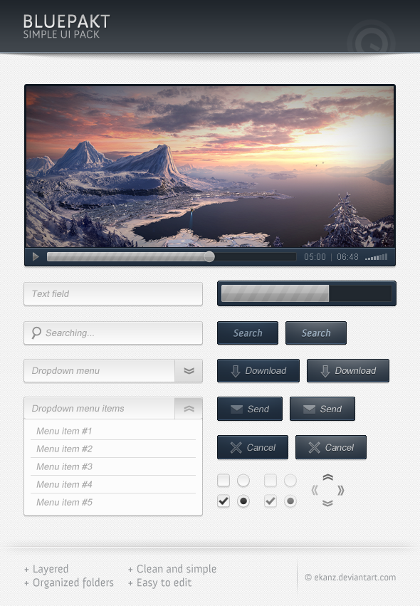 Bluepackt &#8211; Free web elements